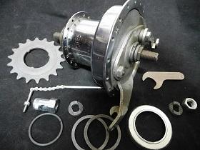 Vintage Raleigh Rear Hub Freewheel Has Oil Port 36 Hole